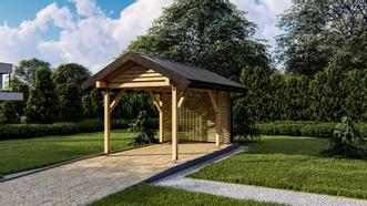 <p>Projekt drewnianej wiaty o tradycyjnej metodzie wykonania.</p>