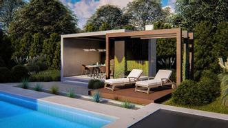 <div>Piękna, innowacyjna altana to doskonałe uzupełnienie nowoczesnego domu z ogrodem. Altana składa się z dwóch części zapewniając każdemu domownikowi własną, prywatną oazę wypoczynku. To doskonałe miejsce na popołudniowy relaks lub wspólnego grilla z przyjaciółmi.</div> <div></div> <p>W dokumentacji projektowej znajdziesz szczegółowy opis altany, zestawienie materiałów, czytelne rysunki techniczne oraz formularz zgłoszenia budowy.</p> <ul><li>Opis ogólny i wytyczne dotyczące altan</li><li>Charakterystyka projektowanego obiektu</li><li>Opis konstrukcji</li><li>Opis rozplanowania prac montażowych</li><li>Zestawienie materiałów</li><li>Perspektywy</li><li>Rzut fundamentów i nawierzchni</li><li>Rzut przyziemia i dachu</li><li>Rzut więźby</li><li>Przekrój A-A</li><li>Elewacje</li><li>Rozwinięcie ścian</li><li>Aksonometria konstrukcji</li><li>Detale połączeń elementów drewnianych</li><li>Formularz zgłoszenia budowy</li></ul>