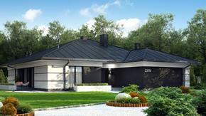Z378 - Parterowy dom z garażem dwustanowiskowym.