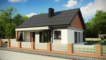 Z316 A tradycyjny dom parterowy z dachem dwuspadowym oraz 3 sypialniami na 90m2 !!