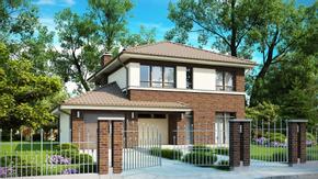 Zx24 - Współczesny dom z pełnym piętrem, dodatkowy pokój na parterze i garaż w bryle.