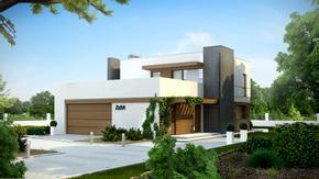 Zx54 - Piętrowy dom w nowoczesnym stylu z funkcjonalnym wnętrzem.